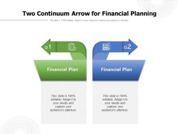 Two Continuum Arrow For Financial Planning
