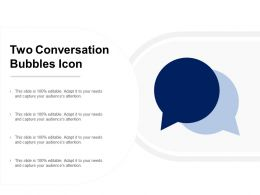 Two Conversation Bubbles Icon