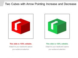 Two Cubes With Arrow Pointing Increase And Decrease
