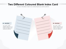 Two Different Coloured Blank Index Card