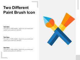 Two Different Paint Brush Icon