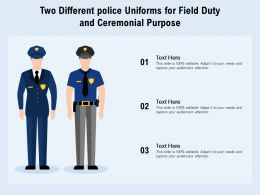 Two Different Police Uniforms For Field Duty And Ceremonial Purpose