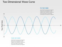 Two Dimensional Wave Curve Flat Powerpoint Design