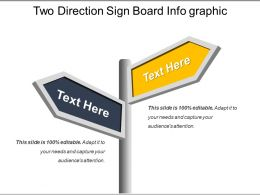 Two Direction Sign Board Info Graphic