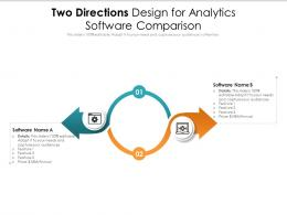 Two Directions Design For Analytics Software Comparison