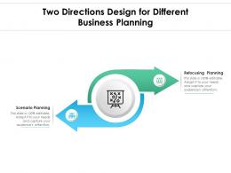 Two Directions Design For Different Business Planning