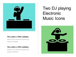 Two Dj Playing Electronic Music Icons