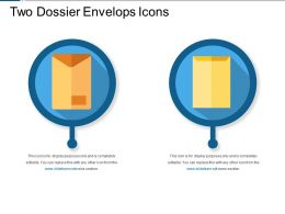 Two Dossier Envelops Icons
