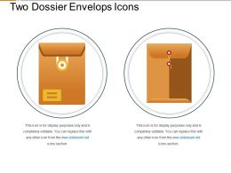 Two Dossier Envelops With Knot Icons