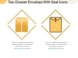 Two Dossier Envelops With Seal Icons