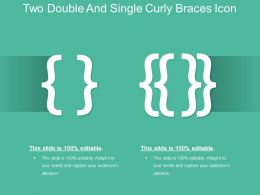 Two Double And Single Curly Braces Icon