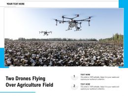 Two Drones Flying Over Agriculture Field