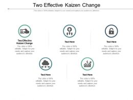 Two Effective Kaizen Change Ppt Presentation Infographic Template Deck Cpb