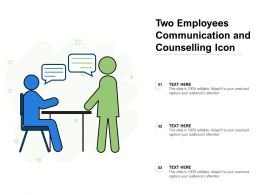 Two Employees Communication And Counselling Icon