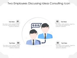 Two Employees Discussing Ideas Consulting Icon
