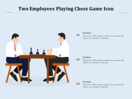 Two Employees Playing Chess Game Icon