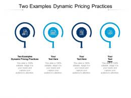 Two Examples Dynamic Pricing Practices Ppt Powerpoint Presentation Professional Grid Cpb