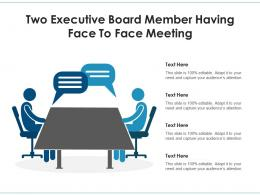 Two Executive Board Member Having Face To Face Meeting