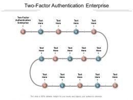 Two Factor Authentication Enterprise Ppt Powerpoint Presentation File Themes Cpb