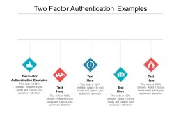 Two Factor Authentication Examples Ppt Powerpoint Presentation Ideas Smartart Cpb
