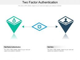 Two Factor Authentication Ppt Powerpoint Presentation Ideas Backgrounds Cpb
