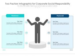 Two Factors Infographic For Corporate Social Responsibility