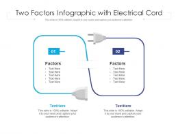 Two Factors Infographic With Electrical Cord