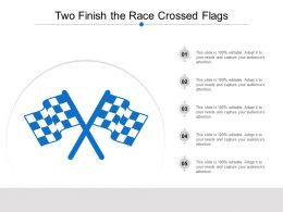 Two Finish The Race Crossed Flags
