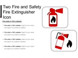 Two Fire And Safety Fire Extinguisher Icon