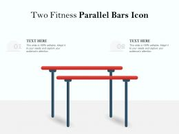 Two Fitness Parallel Bars Icon