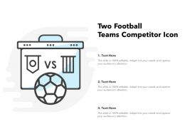 Two Football Teams Competitor Icon