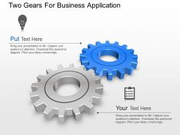 Two Gears For Business Application Powerpoint Template Slide