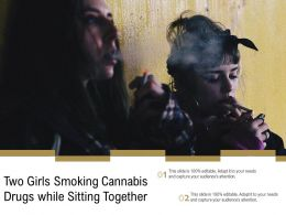 Two Girls Smoking Cannabis Drugs While Sitting Together