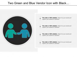 Two Green And Blue Vendor Icon With Black Background