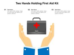 Two Hands Holding First Aid Kit