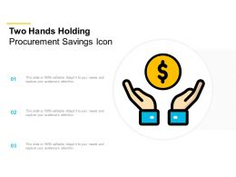 Two Hands Holding Procurement Savings Icon