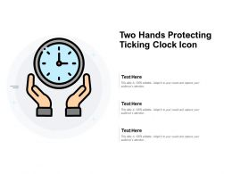 Two Hands Protecting Ticking Clock Icon