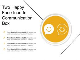 Two Happy Face Icon In Communication Box