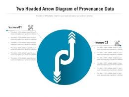 Two Headed Arrow Diagram Of Provenance Data Infographic Template