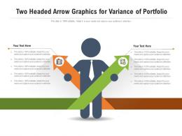 Two Headed Arrow Graphics For Variance Of Portfolio Infographic Template