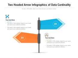 Two Headed Arrow Of Data Cardinality Infographic Template