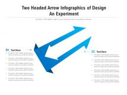 Two Headed Arrow Of Design An Experiment Infographic Template