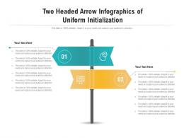 Two Headed Arrow Of Uniform Initialization Infographic Template