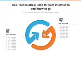 Two Headed Arrow Slide For Data Information And Knowledge Infographic Template