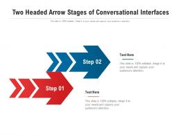 Two Headed Arrow Stages Of Conversational Interfaces Infographic Template