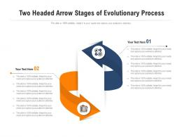 Two Headed Arrow Stages Of Evolutionary Process Infographic Template