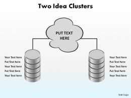 two idea clusters business ppt slides diagrams templates powerpoint info graphics