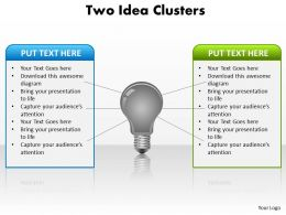 Two Idea Clusters Powerpoint Slides Presentation Diagrams Templates