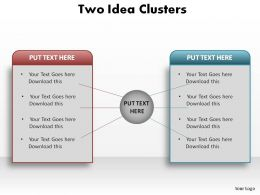 two idea clusters ppt slides presentation diagrams templates powerpoint info graphics