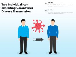 Two Individual Icon Exhibiting Coronavirus Disease Transmission